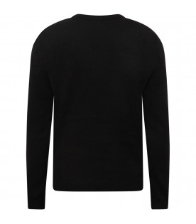ZADIG & VOLTAIRE KIDS Black boy sweater with red writing