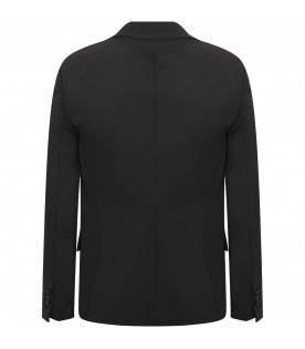 DSQUARED2 Black boy jacket with white henderkechief