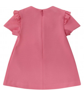 GUCCI KIDS Pink dress with bows