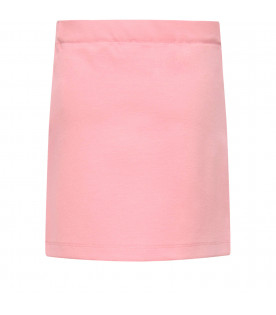 VIVETTA KIDS Pink and black girl skirt with brooches