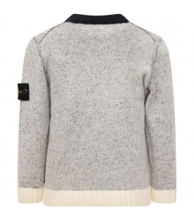STONE ISLAND JUNIOR Sweater boy  with iconic compass