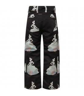 "CAROLINE BOSMANS Black ""Dream a dream"" girl pants"