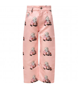 "CAROLINE BOSMANS Pink ""Dream a dream"" girl pants"