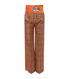 STELLA JEAN KIDS Multicolor girl pants with orange detail