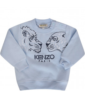 KENZO KIDS Heavenly sweatshirt with white and blue tigers