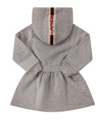 Gucci Kids Grey dress with logo on the hood