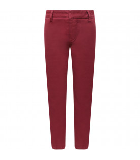 Bordeaux boy pants with iconic D