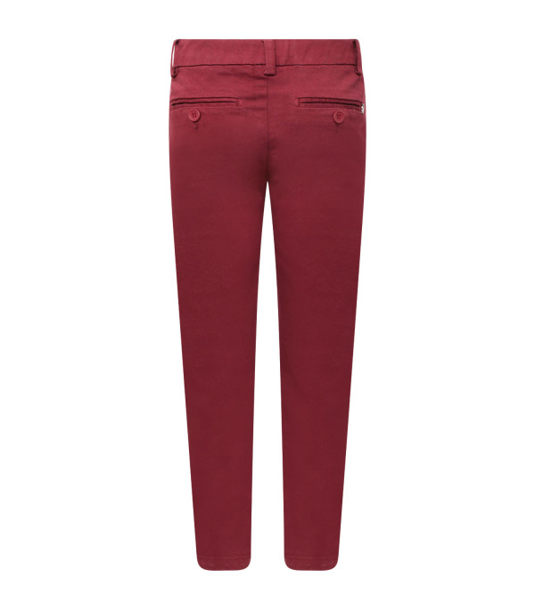 DONDUP KIDS Bordeaux boy pants with iconic D