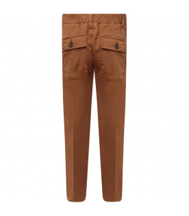 Camel boy pants with iconic D