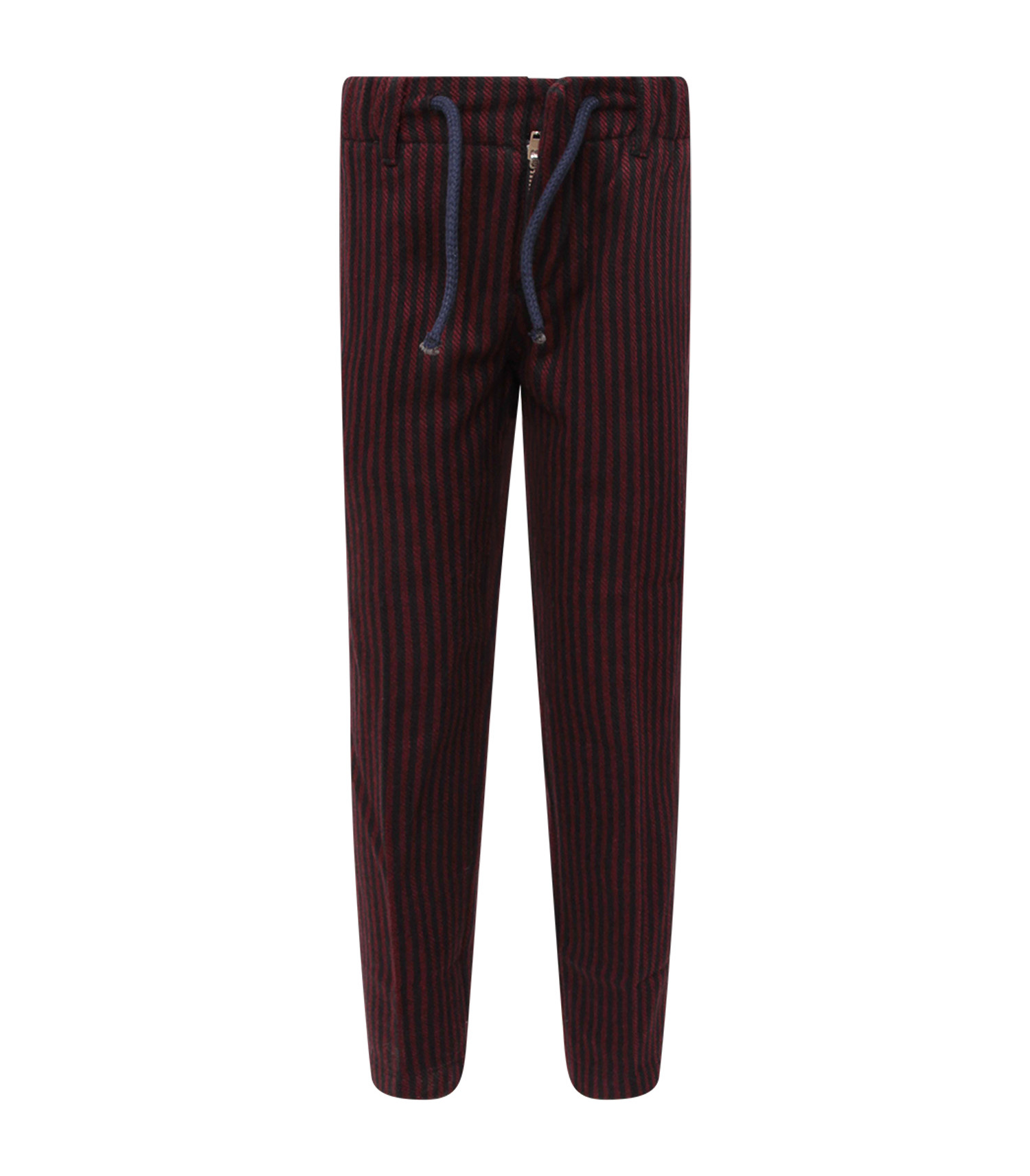 Dondup Kids Blue and red boy striped pants with iconic D
