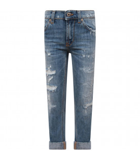 """DONDUP KIDS Light blue boy """"George"""" jeans with iconic D"""