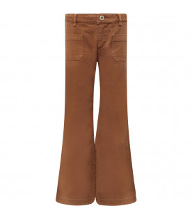 "DONDUP KIDS Camel girl ""Campbell"" jeans with iconic D"