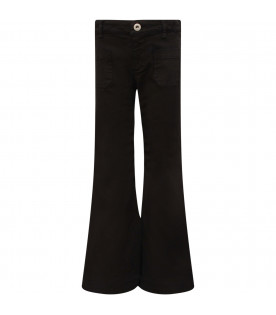 DONDUP KIDS Jeans bambina nero con iconica D