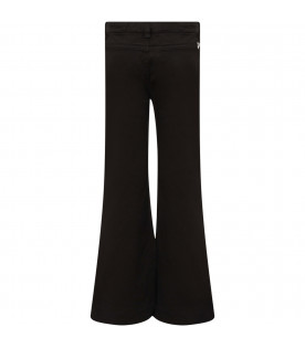 "DONDUP KIDS Black girl ""Campbell"" jeans with iconic D"