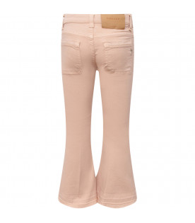 "DONDUP KIDS Pink girl ""Campbell"" jeans with iconic D"