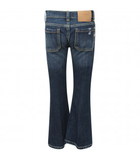 "DONDUP KIDS Jeans bambina blu denim ""Campbell"" con iconica D"