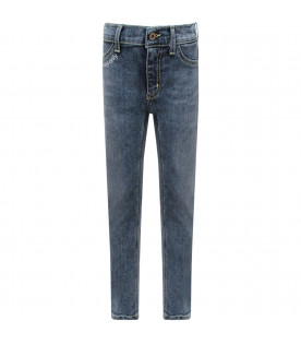 """Light blue girl """"Appetite"""" jeans with white writing"""