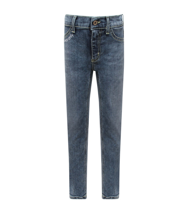 "DONDUP KIDS Light blue girl ""Appetite"" jeans with white writing"