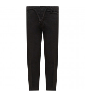 DONDUP KIDS Black boy pants with iconic D