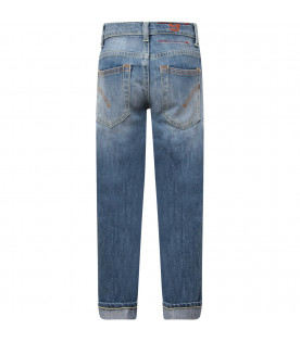 "DONDUP KIDS Light blue boy ""Sean"" jeans with white writing"