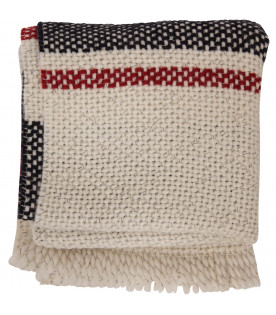 DONDUP KIDS Ivory, red and blue scarf