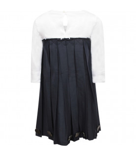 OWA YURIKA White and blue girl dress