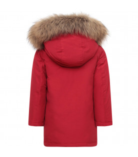 WOOLRICH KIDS Parka bambino rosso
