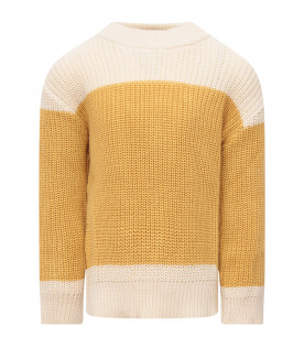 Ivory and yellow  sweater