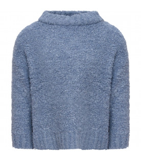 TINYCOTTONS Light blue girl fluffy sweater