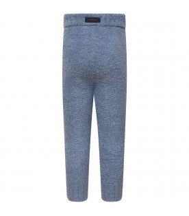 Light blue fluffy pant