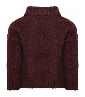 TINYCOTTONS Purple girl fluffy sweater