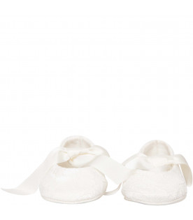 LANVIN PETITE White flat shoes