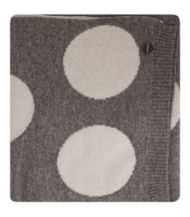 SIMONETTA Grey scarf with white polka-dots