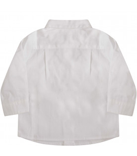 SIMONETTA White boy skirt with logo