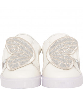 "SOPHIA WEBSTER MINI Ivory ""Bibi low top"" sneaker"