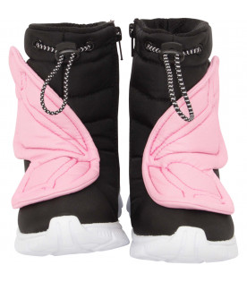 "SOPHIA WEBSTER MINI Black ""Nevah"" snow boots"