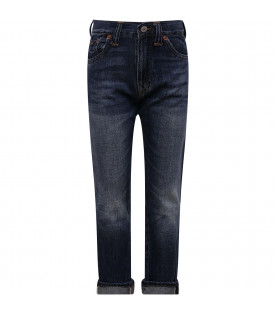 RALPH LAUREN KIDS Blue denim boy jeans