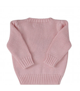 RALPH LAUREN KIDS Pink sweater with flag