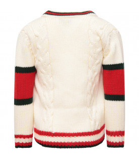 GUCCI KIDS White carding with web detil