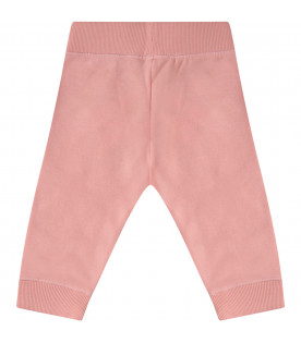 KENZO KIDS Pink girl pants with tigers