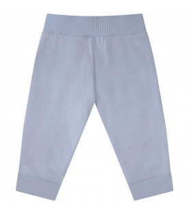 KENZO KIDS Light blue boy pants with tigers