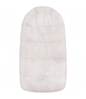 SAVE THE DUCK KIDS White sleeping bag with iconic logo