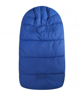 SAVE THE DUCK KIDS Light blue sleeping bag with iconic logo