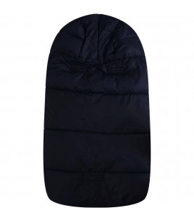 SAVE THE DUCK KIDS Blue sleeping bag with iconic logo
