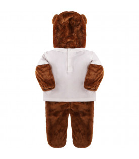 MOSCHINO KIDS Colorful babygrow shaped like Teddy Bear