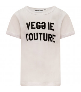 "GARDNER AND THE GANG T-shirt bianca ""Veggie Couture"""