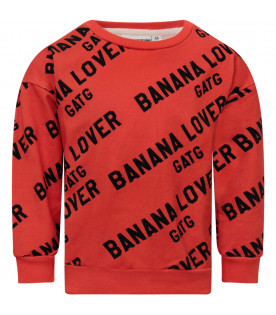 "GARDNER AND THE GANG Red ""Banana Lover"" sweatshirt"