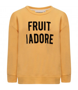 "GARDNER AND THE GANG Beige ""Fruit I adore"" sweatshirt"