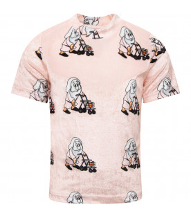 "CAROLINE BOSMANS Pink ""IF AND PERHAPS"" girl T-shirt"