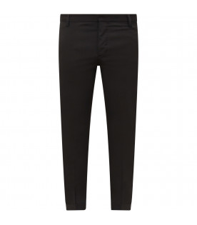 Black boy pants with metallic logo